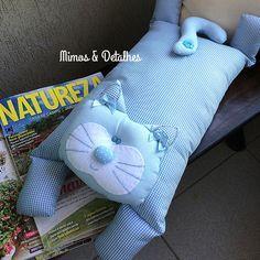 Almofada de gato - azul