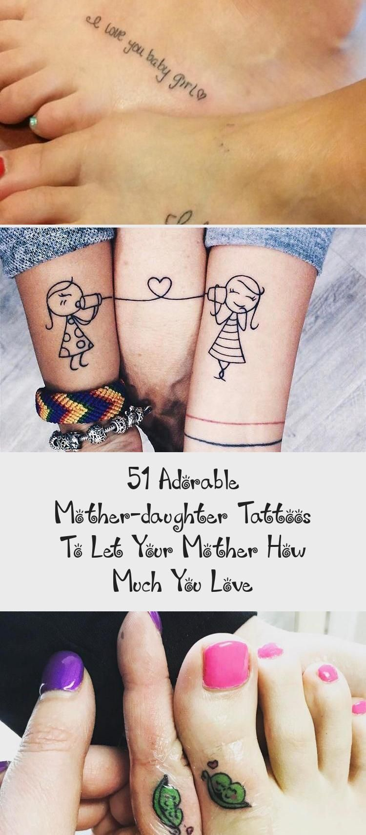 51 Adorable Mother-daughter Tattoos To Let Your Mother How Much You Love in 2020 | Tattoos for daughters, Mother daughter tattoos, Tattoos