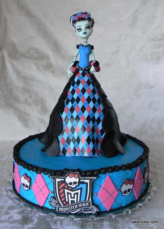 Enjoyable Frankie Stein Dress Cake Via Craftsy Monster High Birthday Personalised Birthday Cards Sponlily Jamesorg