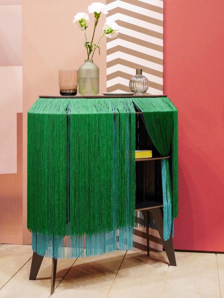 Maison et objet janvier 2019 commode franges original vert blog déco clem around the