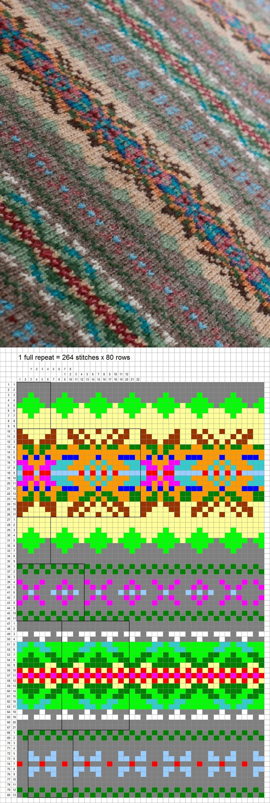 Fair Isle Knitting Pattern ---- Project: Use for skirt, replacing ...