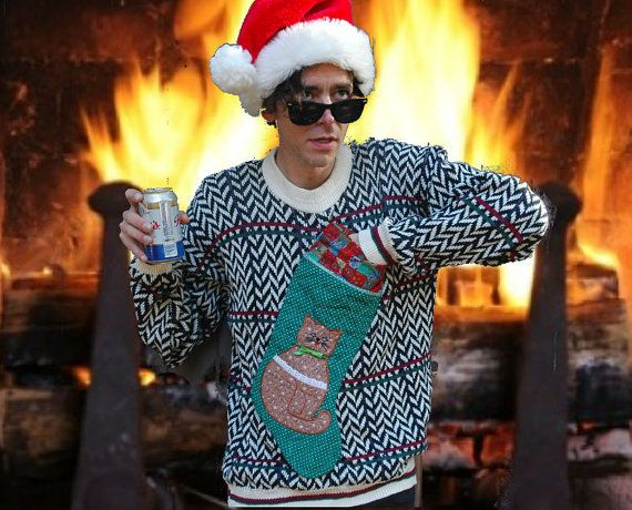 BAD ACID TRIP ...Ugly Chistmas Sweater... Ugly Xmas Sweater by cosmicyardsale, $40.00