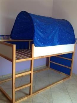 Letto A Castello Ikea Con Tenda.Lettino Ikea Kura In Ottime Condizioni Dimensioni 90x200