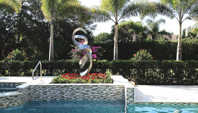 Pas De Deux Boca Raton Metal Sculpture Sculptures Landscape