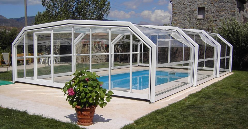 Supplier Of Domestic And Commercial Telescopic Swimming Pool Enclosures Pool Covers To The Uk Garden Swimming Pool Swimming Pool Enclosures Indoor Outdoor Pool