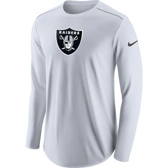 b0bdee9b990 Men s Oakland Raiders Nike White Champ Drive Long Sleeve T-Shirt ...