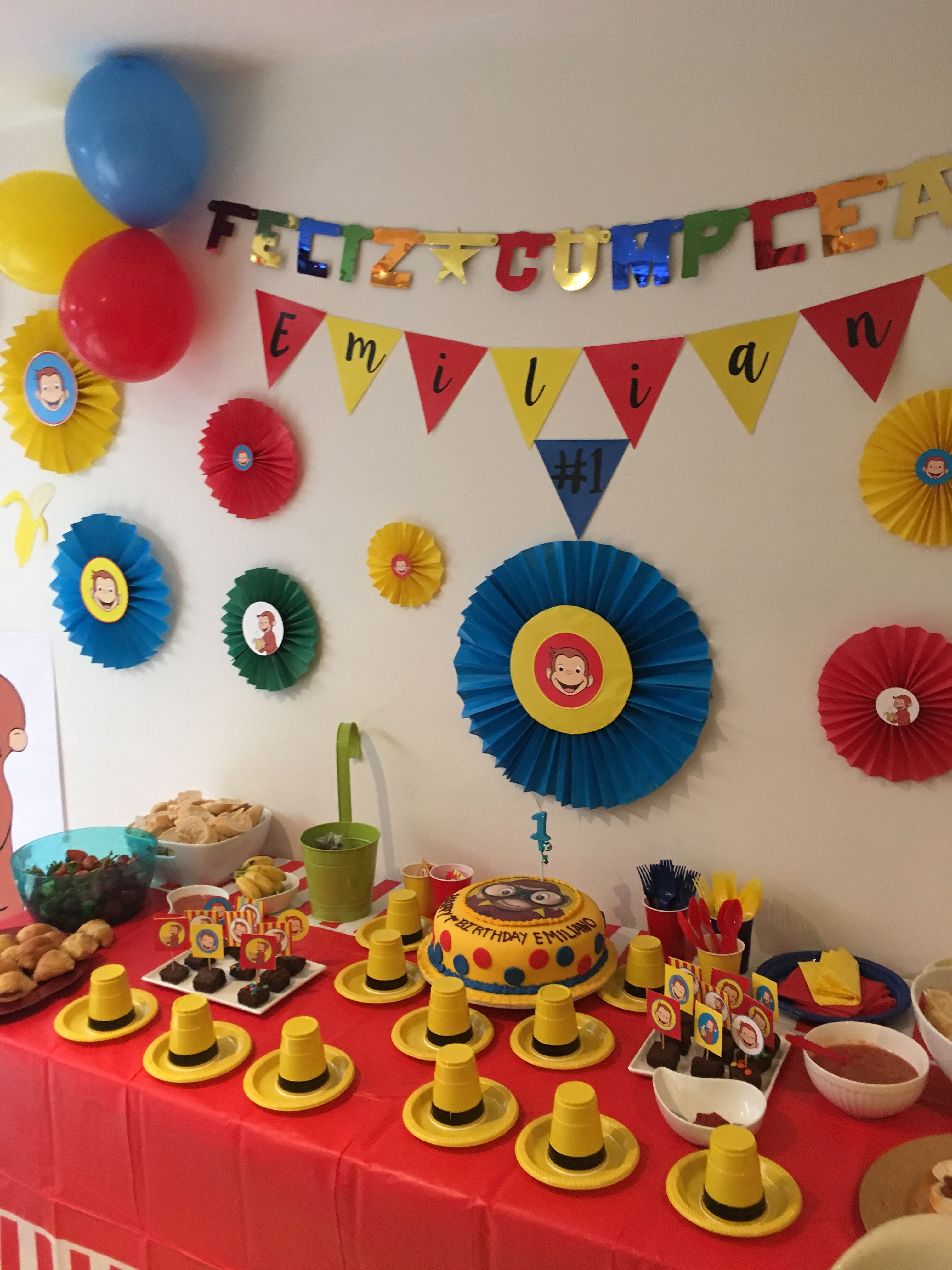 Fiesta cumplea os jorge el curioso cumple mateo 3 en - Decoracion de fiestas de cumpleanos infantiles ...