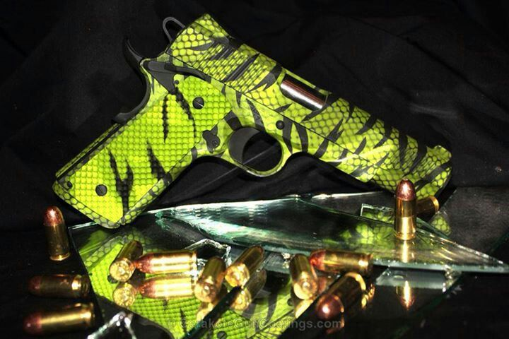 Green Zebra gun - I'm Ready for the Zombies. // / Check out Charter Arms on Pinterest or visit our web-sight at CharterFireArms.Com