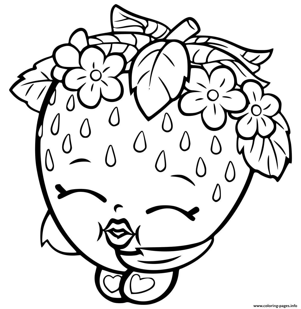 Coloring games of shopkins - Print Shopkins Strawberry Coloring Pages