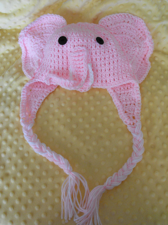 Pink Elephant crochet earflap hat   Crochet   Pinterest