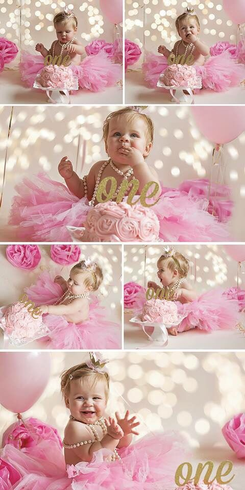 Loved how the pink and gold theme turned out for Ella's party.  Not sure who had more fun with the cake smash...her or me?!