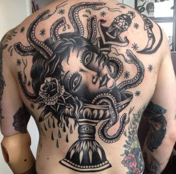 a4c02ca6da000 2017 trend Tattoo Ideas for Men - Old school tattoos - Old and even ancient  tattoos will never go out of style in .