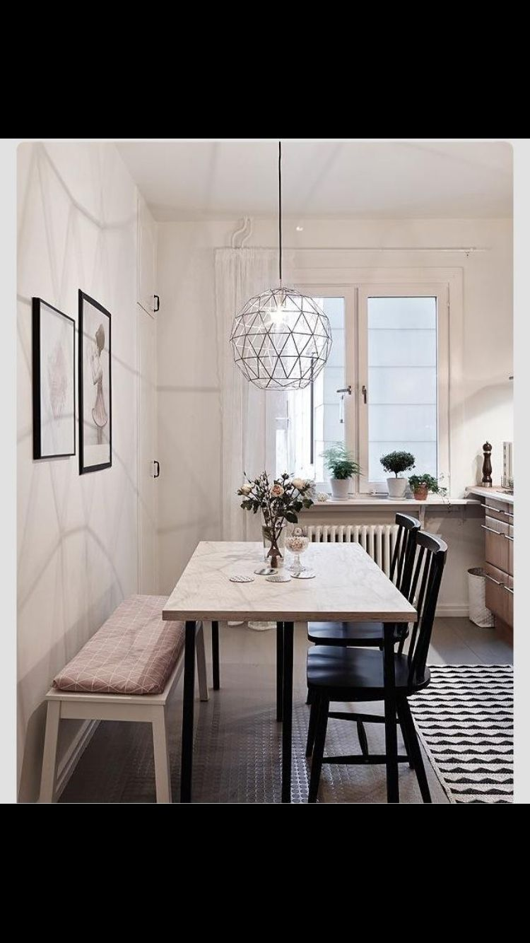 Tremendous Hadnt Thought About Up Against The Wall But A Bigger Table Machost Co Dining Chair Design Ideas Machostcouk