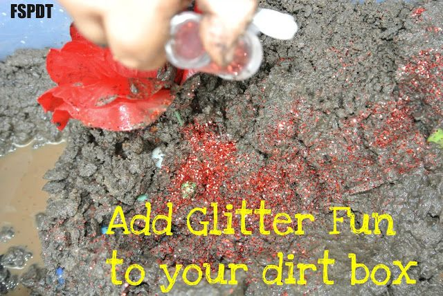 Dirt and/or Mud sensory box by FSPDT