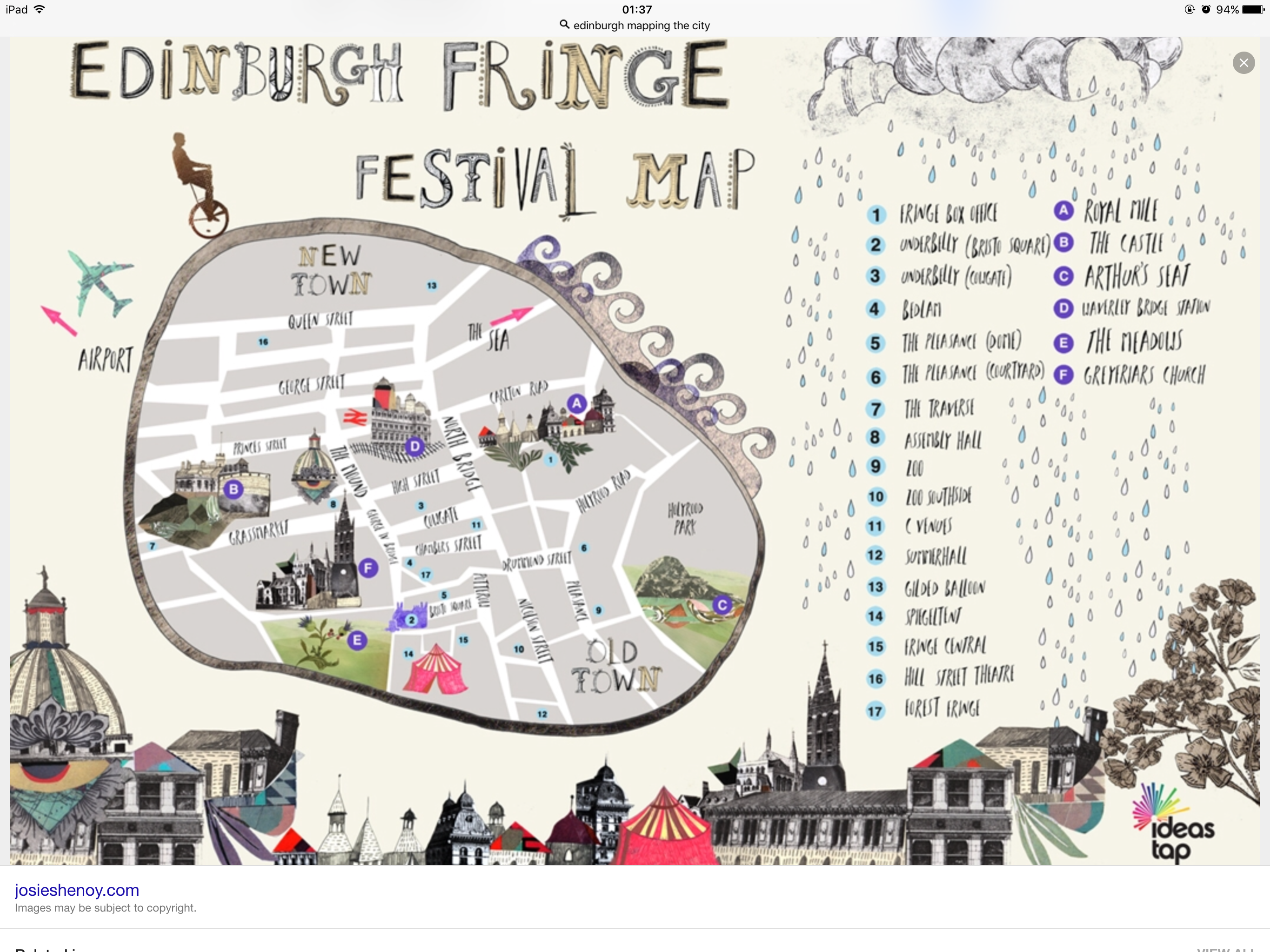 Edinburgh festival map. | graphics | Map layout, Map