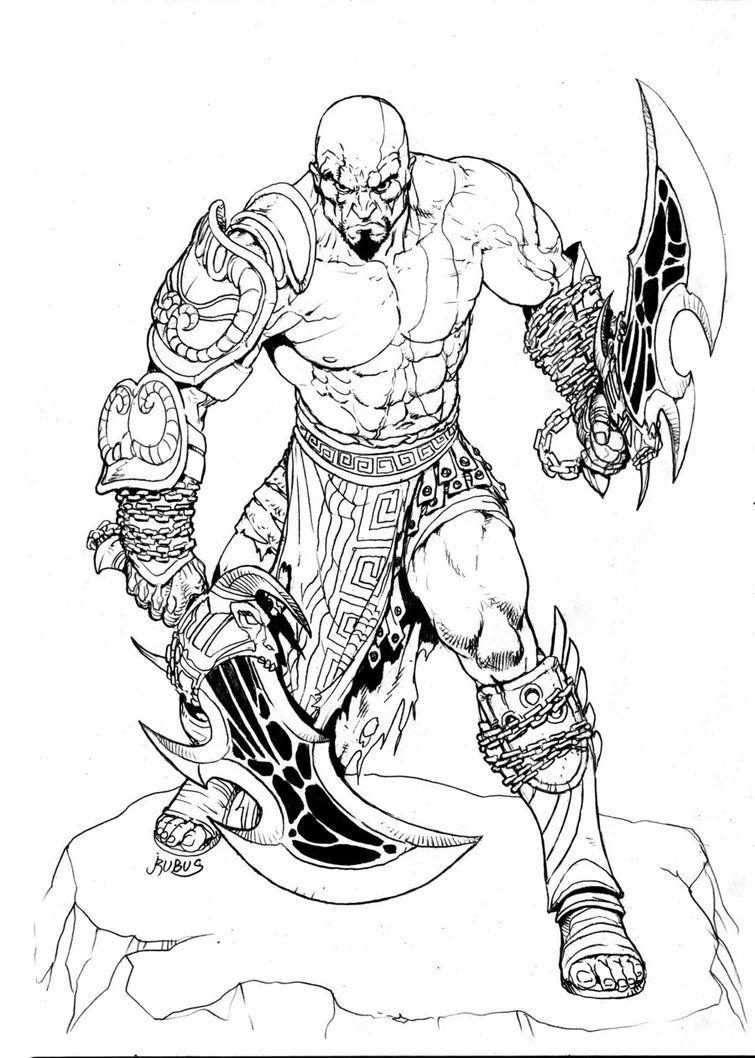 Kratos E Suas Armas Com Imagens Kratos God Of War Desenhos