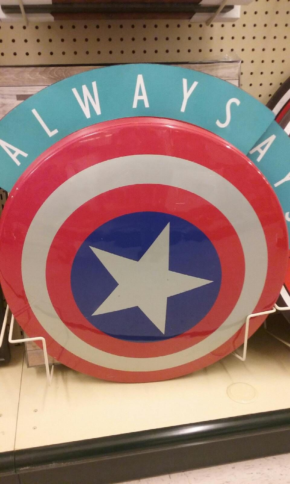 Hobby Lobby ~ Captain America's Shield !
