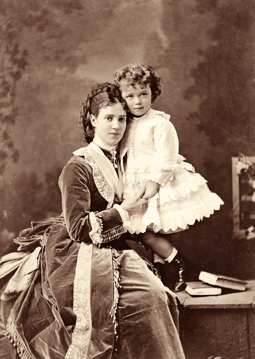 Nicholas Ii As A Child With His Mother Maria Feodorovna