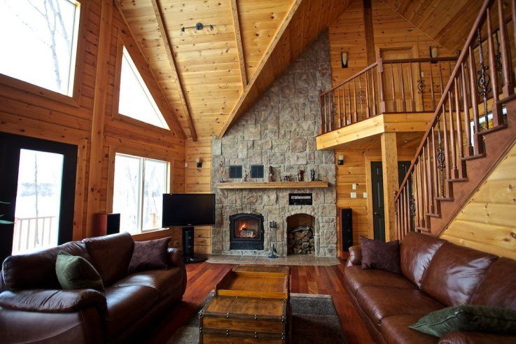 The Perfect Living Room at the mountain cabin home casas