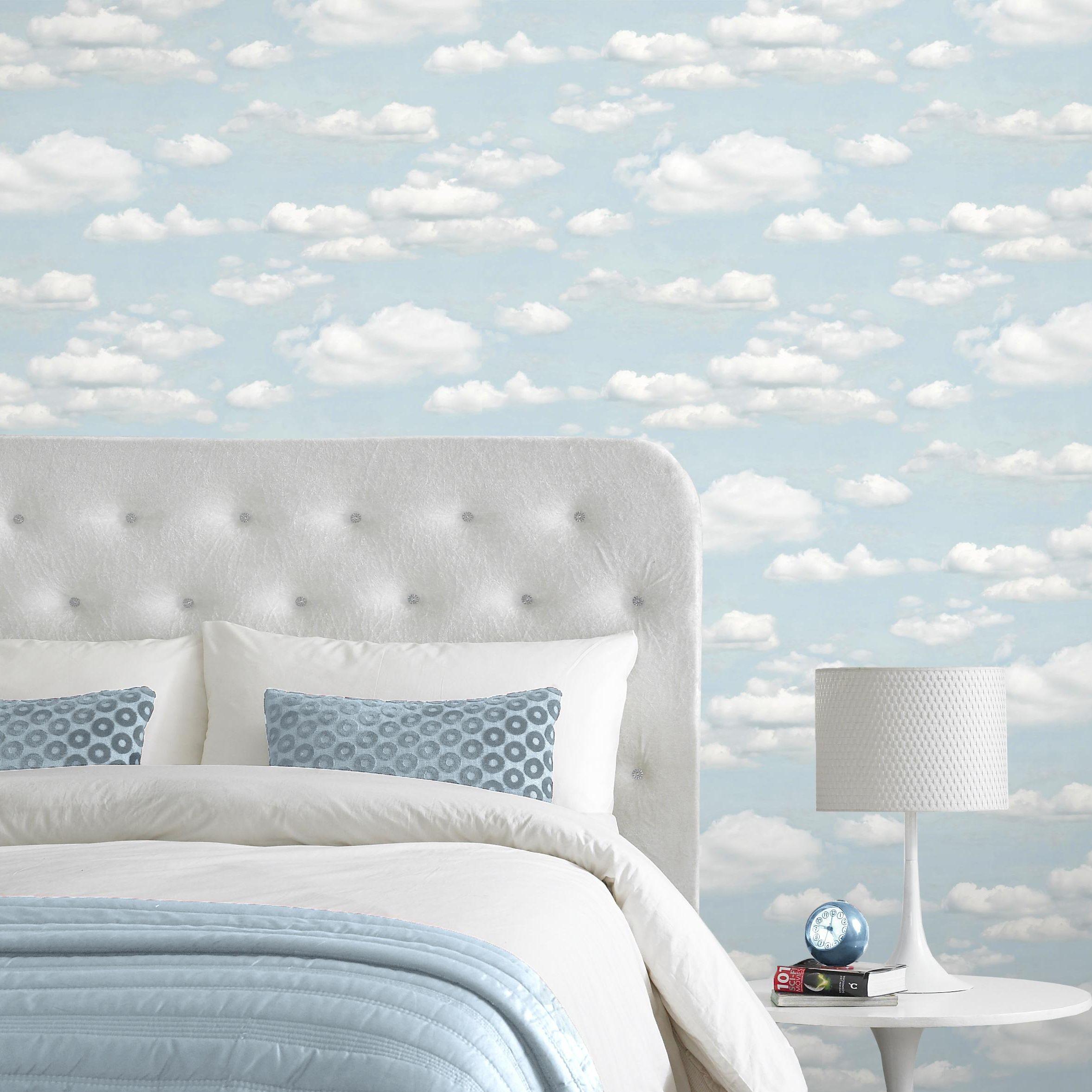 B Q Cloud Wallpaper Blue Wallpapers Blue Clouds Diy Wallpaper Childrens bedroom wallpaper b&q