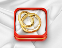 iOS Wedding Planner icon by Virgil Pana, via Behance