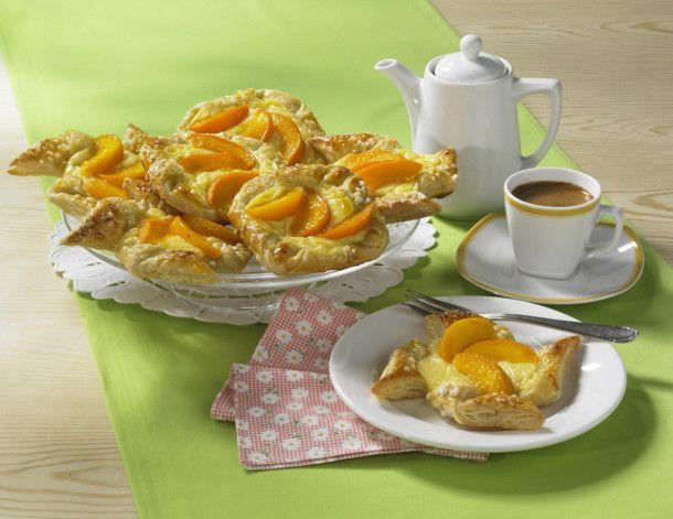 Pfirsich-Pudding-Teilchen Rezept   LECKER