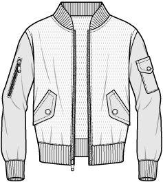 Sport Jacket Flat Fashion Illustrations Pinterest Drawings