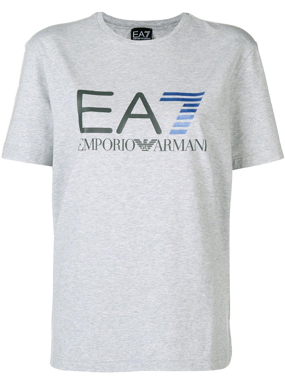 b138c225c Ea7 Emporio Armani Logo print T-shirt | T-shirts | Armani logo, T ...