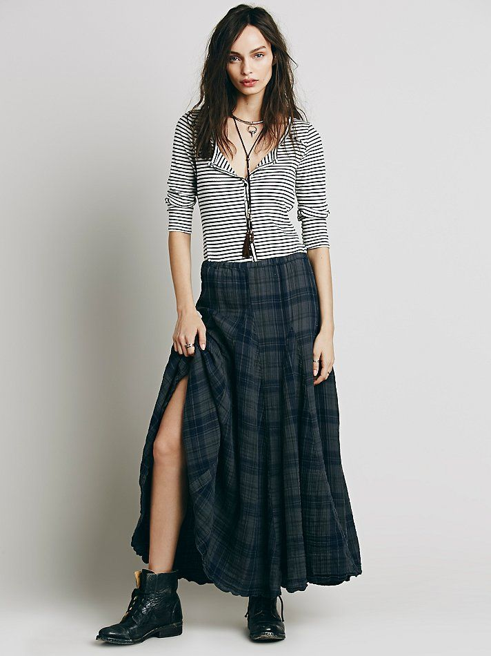 b046e23b23 CP SHADES Sienna Plaid Maxi Skirt at Free People Clothing Boutique ...
