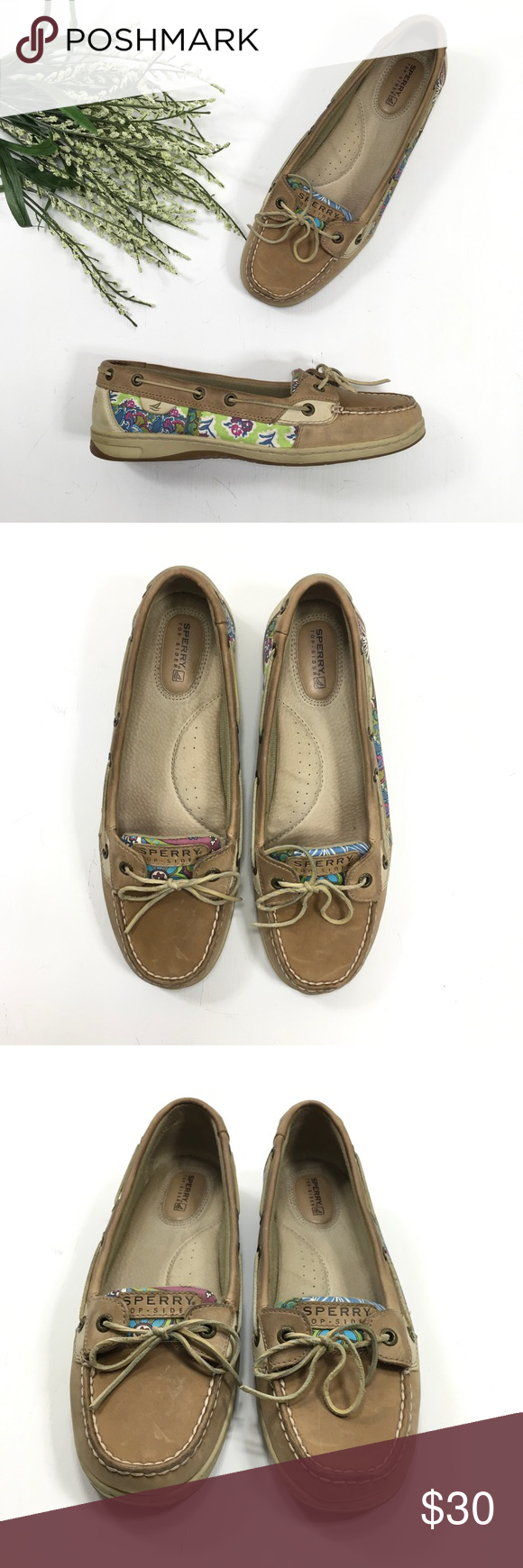 Sperry Top-Sider | Tan Slip On Floral