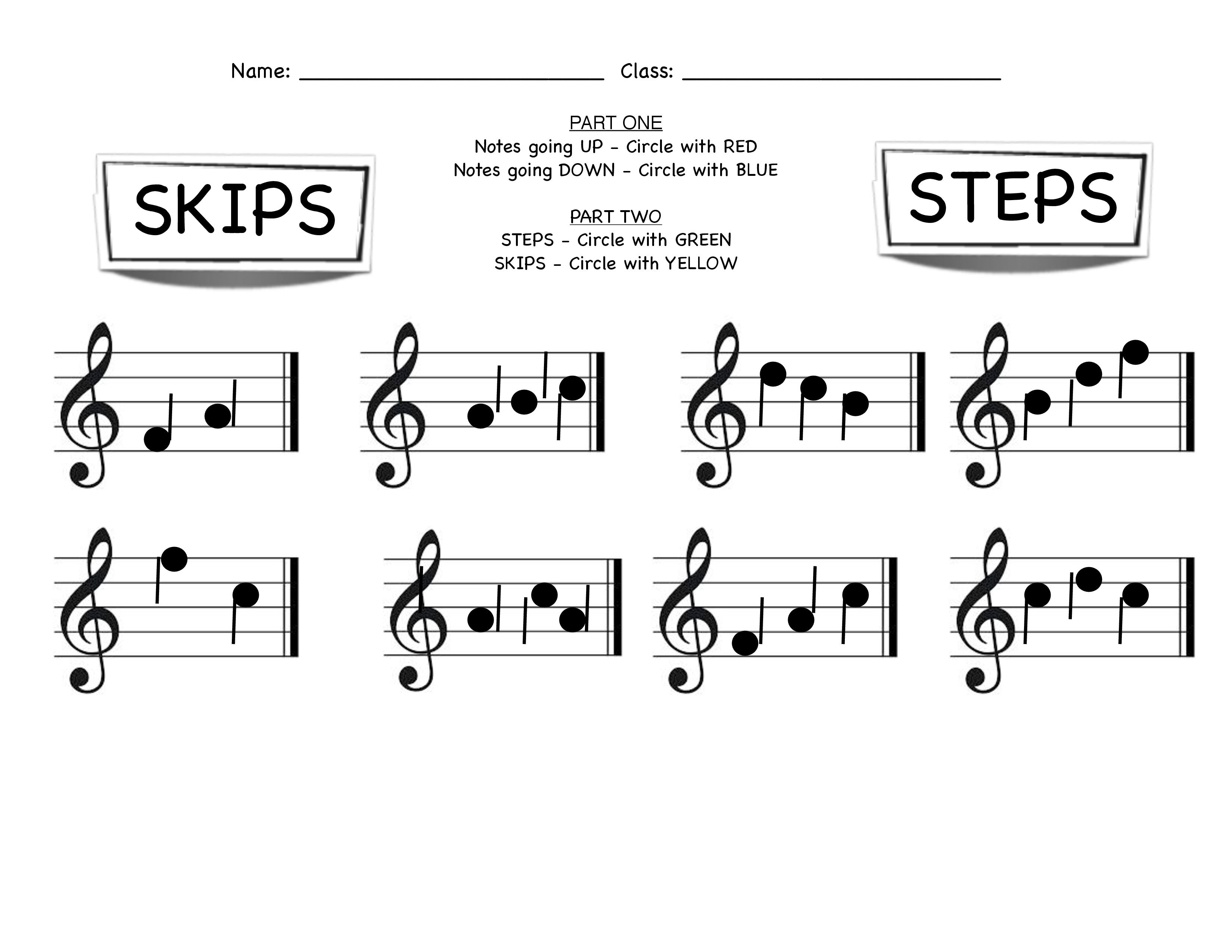 Steps Skip And Pitch Direction Assessment