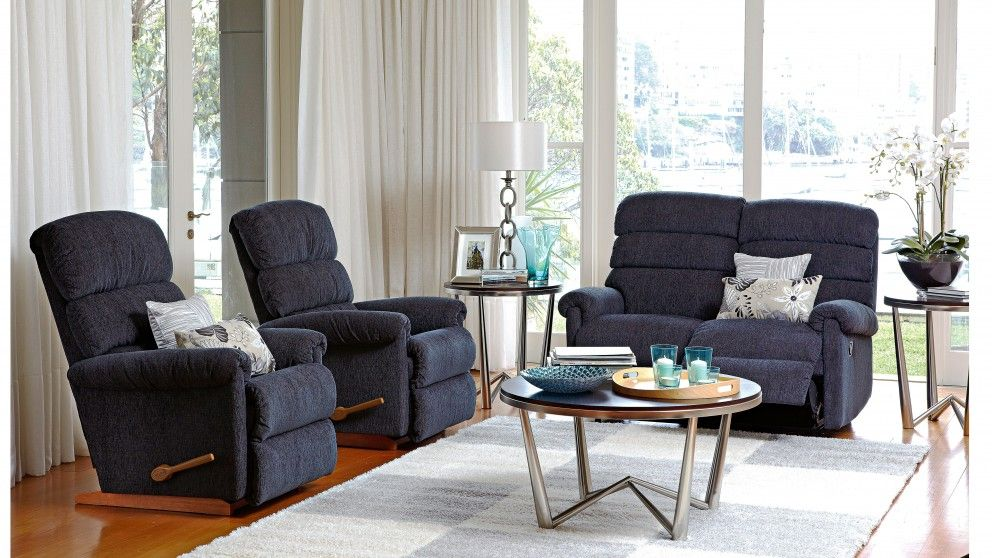 Rialto 3 Piece Fabric Recliner Lounge Suite - Recliner Lounges ...