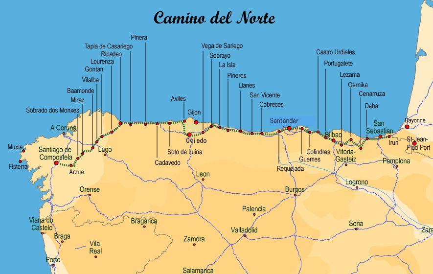 Bildergebnis Fur Camino Del Norte Route Wandelen Reizen Spanje