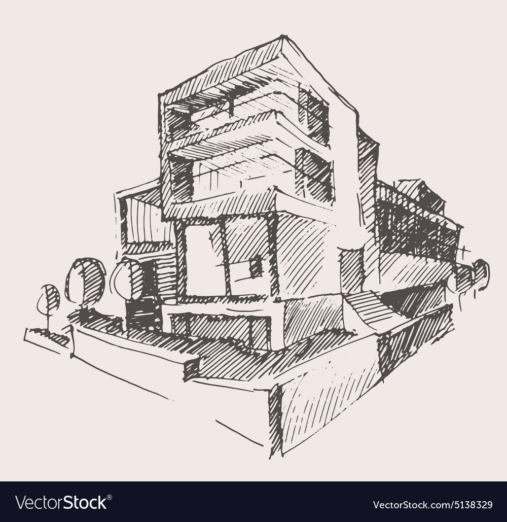 Modern Architecture Drawing In 2020 Architecture Drawing Architecture Concept Drawings Architecture Portfolio Design