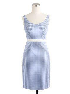 Altuzarra for J.Crew Sabrina Dress (Thomas Mason fabric Gingham with grosgrain bow detail)
