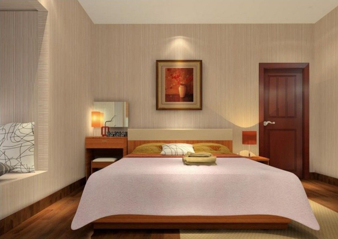 Best Minimalist Bedroom With Wood Grain Wallpaper With Images 640 x 480