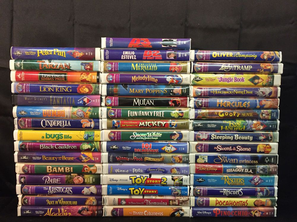 Lot Of 46 Disney Vhs Mulan Hercules The Jungle Book Dumbo