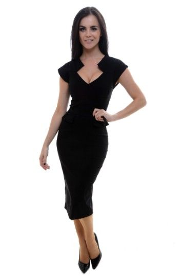b134692046 Harvard Black Pencil Dress Price £89.00 Introducing the Harvard... On trend  new season design. A versatile am to pm dress. Wear to the office or for  evening ...