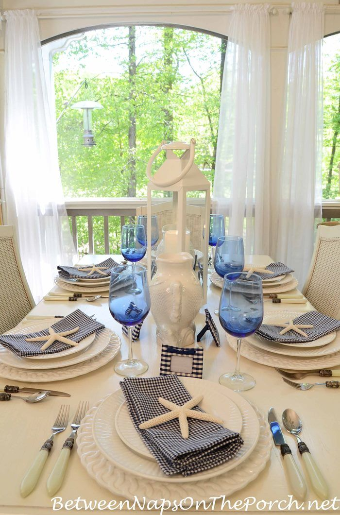 Navy and White Great for a Nautical Themed Table Setting & Navy and White: Great for a Nautical Themed Table Setting | Coastal ...