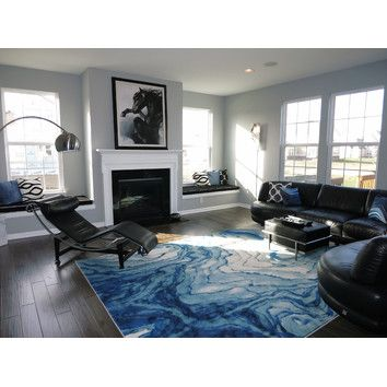 Angeline Blue Area Rug   Blue area rugs, Living spaces and Master ...