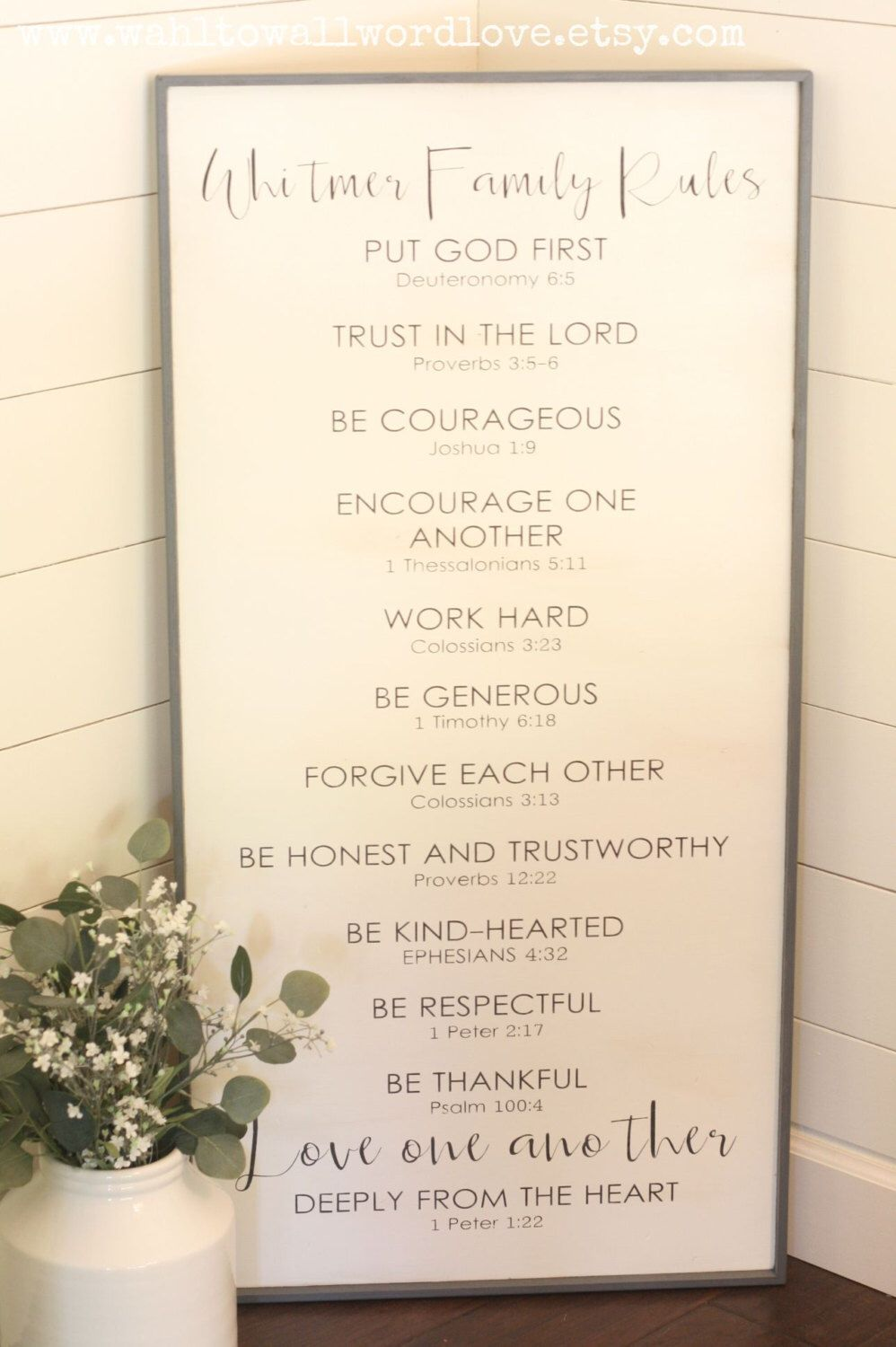 Imposing Family Rules Sign Customized Christian Family Rules Sign Rustic Woodfamily Rules Custom Wood Sign Bible Verse Family Rules Sign By Family Rules Personalized Family Rules Wooden Family