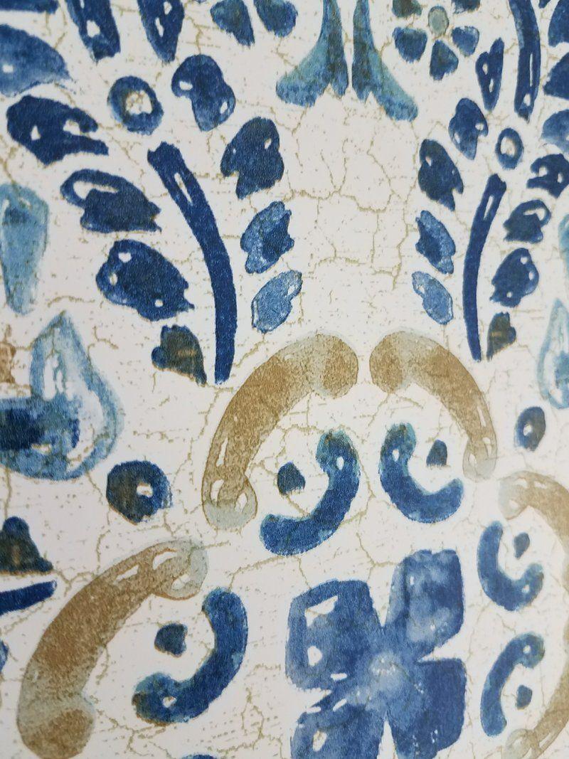 Wallpops Blue Florentine Medallion Tile Wallpaper Tile Wallpaper Blue Medallion Wallpaper