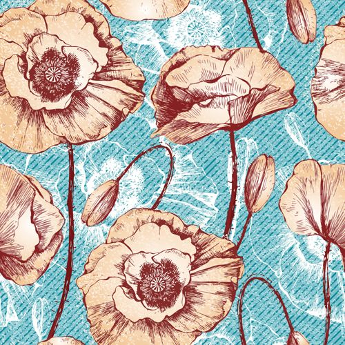 Flower vintage pattern seamless vector - Vector Flower, Vector Pattern free download
