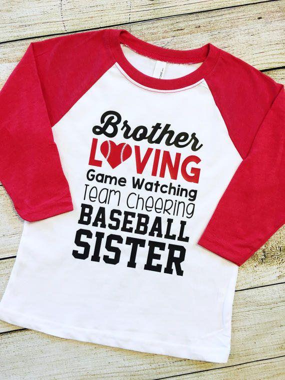 Baseball Sister Shirt Brother Baseball Tee Team