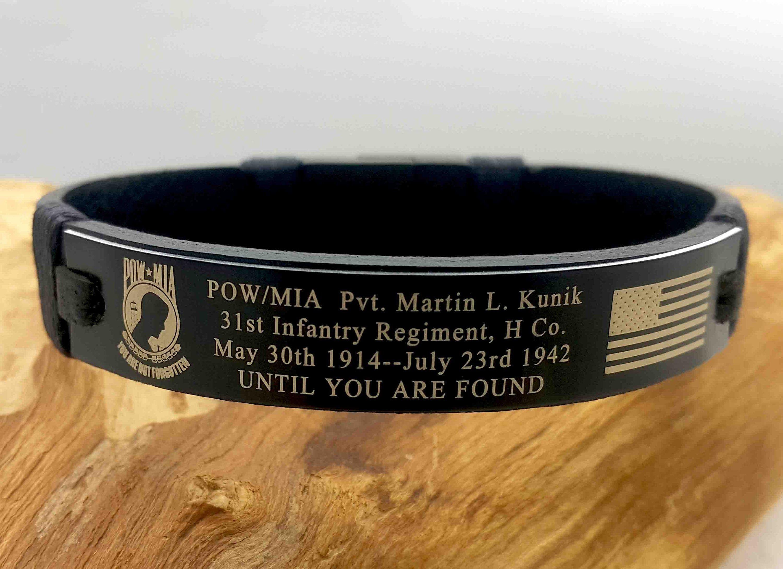 Custom military memorial bracelet kia bracelet in