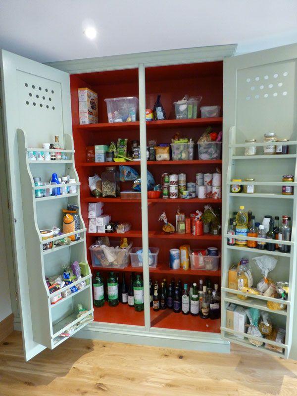 Interior Racks On Handmade Larder Cabinet