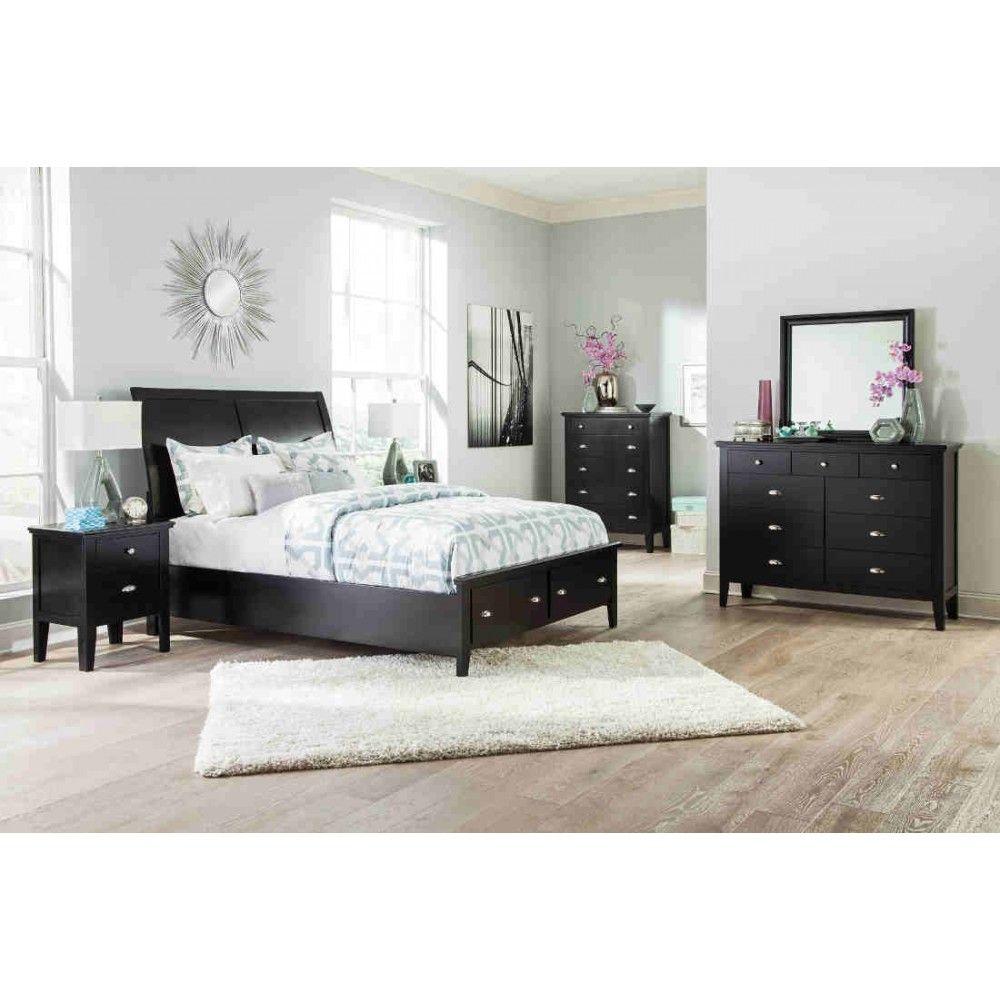 Ashley Furniture Braflin Storage Sleigh Bedroom Set In Black Magnificent Bedroom Sets With Storage Design Ideas