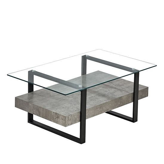 Triton Gl Coffee Table With Light