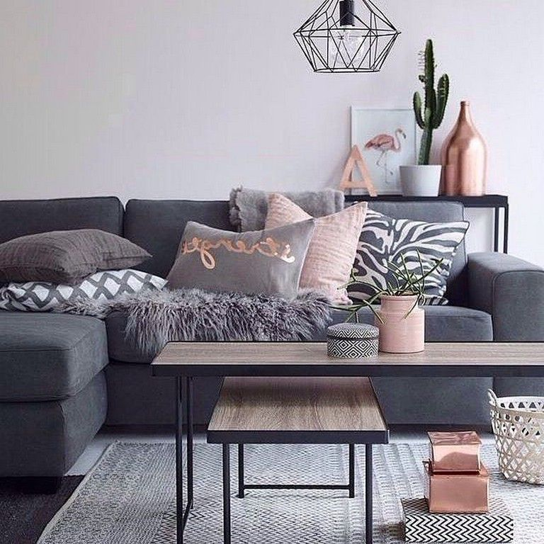 As You May Or May Not Know We Are Moving Home Soon And In The Run Up To Our Move I Ve B Copper And Grey Living Room Blush And Grey Living