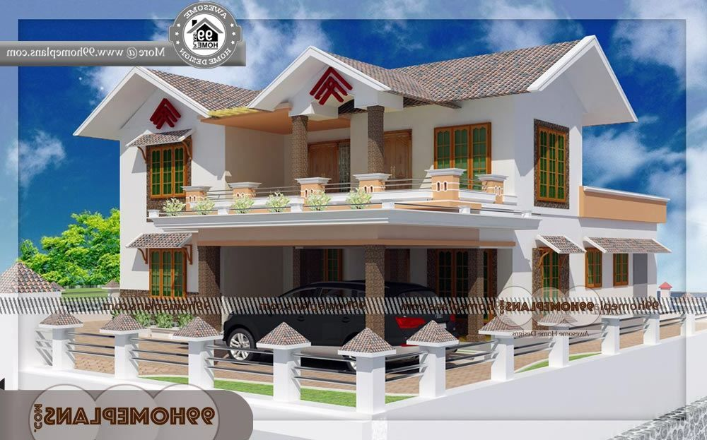 House Elevation Indian Style - 2 Story 1650 sqft-Home ...